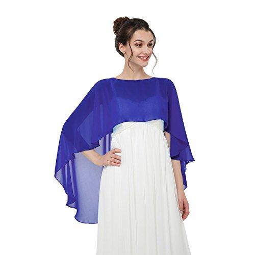 CoCogirls Chiffon Stola Schal für Abendkleid Weicher Chiffon-Shawl wickelt jedem Brautkleid -...