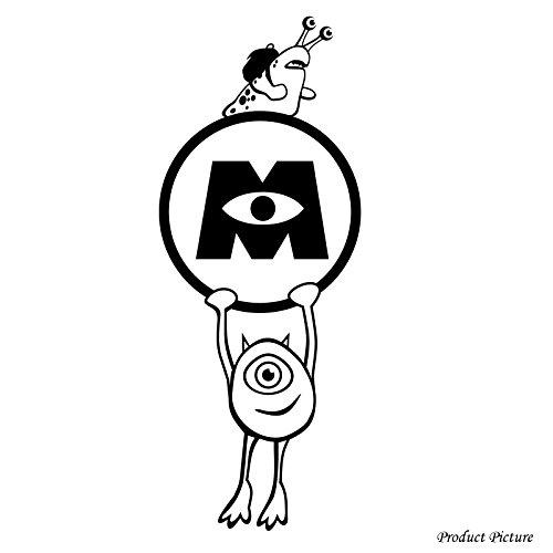 Monster University, Monster, Monster, Disney Film, Mike, Bandy Boogs, Schnecke (24 cm x 60 cm, erhältlich in 18 Farben Badezimmer Childs Schlafzimmer Kinder Zimmer Aufkleber, Vinyl, Fenster und Wand Aufkleber, Wand Windows-Art Wandaufkleber aus Vinyl, Dekoration, ThatVinylPlace Aufkleber