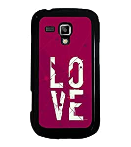 PrintVisa Designer Back Case Cover for Samsung Galaxy S Duos 2 S7582 :: Samsung Galaxy Trend Plus S7580 (Typography Quote Love Cute Pattern)