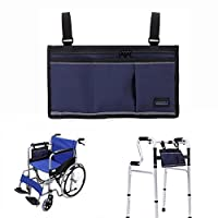 Walker Bags Wheelchair Electric Scooter Bag Travel Carry Bag Pouch Armrest Side Organizer Mesh Storage Cover - Fits Most Bed Rail, Scooters, Walker, Power & Manual Electric Wheelchair (Dark Blue)