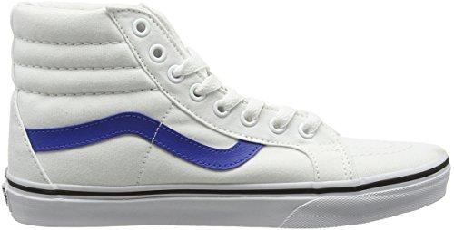 Vans Sk8-Hi Reissue, Scarpe da Ginnastica Alte Unisex – Adulto Bianco (Canvas true white/true blue)