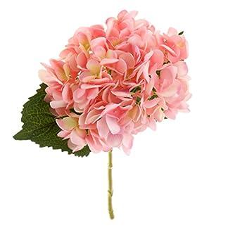 Plantas Flor Vegetal Artificial Hortensia Seda Decoración Boda Fiesta Jardín Color Rosa