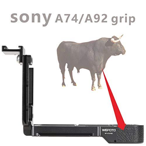 Trépied à dégagement Rapide Plaque L Support en métal Poignée en Bois Poignée d'appareil Photo, GP-A74/A92L