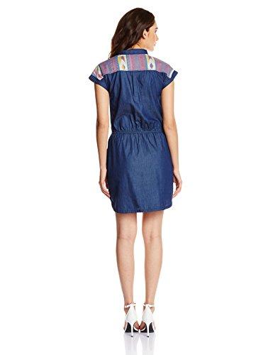 People Women's Cotton Skater Dress (P20402065272333_Navy_M)