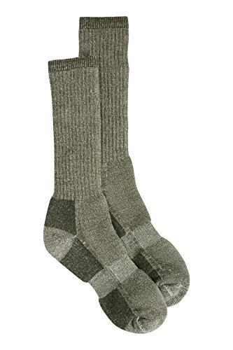 Mountain Warehouse Men's Trek Wool Socks - Naturally Antibacterial Boot Socks, Elastic Arch Long Socks with Extra Support - Ideal for Hiking & Walking