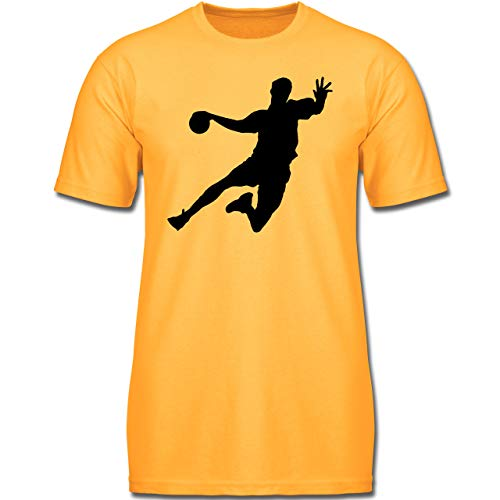 Sport Kind - Handballer - 152 (12-13 Jahre) - Gelb - F130K - Jungen Kinder T-Shirt