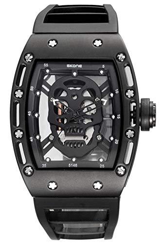 Herren Armbanduhr 3D Totenschädel Skelett Cool Light Watch Wasserdicht Fashion Armbanduhr Geschenk für Frauen Herren