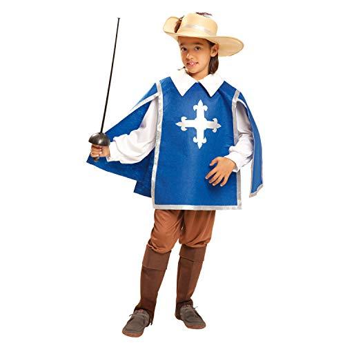 My Other Me Me-201192 Disfraz de mosquetero para niño, 7-9 años (Viving Costumes 201192)