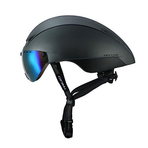 Cairbull Fahrrad Helm Erwachsene Ultralight TT Road Fahrrad Sicherheit Helm mit Abnehmbarem Schild Visier