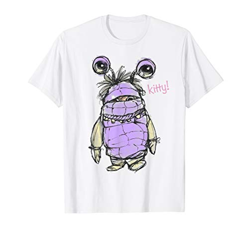 Disney Pixar Monsters Inc Boo Penciled KITTY Graphic T-Shirt