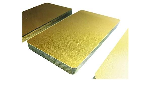 100 pezzi 85 x 54 x 0,76 mm gold dorati in PVC 1 Biglietti di plastica di alta qualit/à