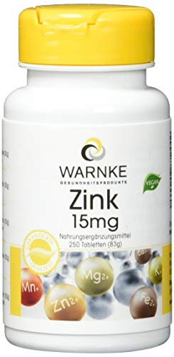 Zink 15 mg Tabletten 250 stk