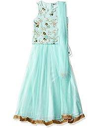 Karigari by Unlimited Girls' A-Line Regular Fit Salwar Suit Set (400017789859)