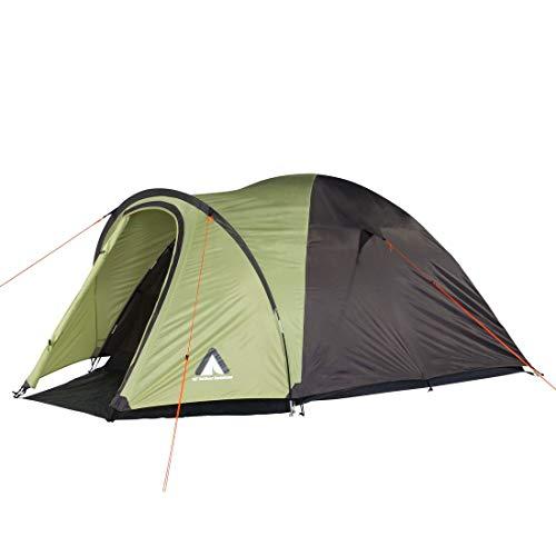 10T Outdoor Equipment Zelt Scone Beechnut 3 Mann Kuppelzelt wasserdichtes Campingzelt 5000mm Igluzelt mit Vorraum, Grün Grau V3, 3 Personen-295x190x125 cm