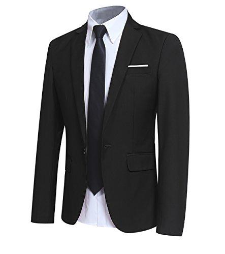 Allthemen Costume homme veston blazer veste de costume blazer homme - Noir - Medium