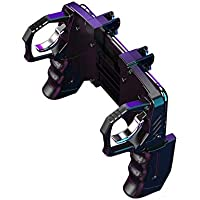 CROGIE Call of Duty K21 Free fire Helper 4 Finger Linkage Game Handle Peace Elite Fast Shooting Button Controller for…