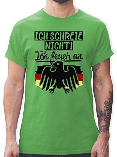 Fußball-Europameisterschaft 2020 - Ich Schreie Nicht! Ich Feuer an - XXL - Grün - L190 - Herren T-Shirt Rundhals