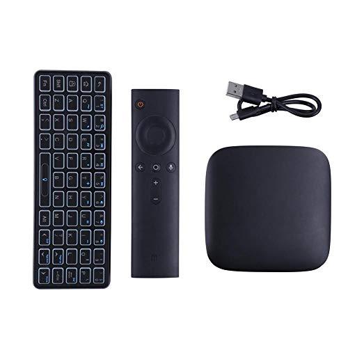 wangwtry Bluetooth-Tastatur mit integrierter Schutzhülle für Xiaomi TV Box 3 (Verwendung zu Hause)