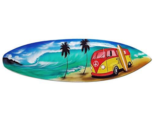 Seestern Sportswear Deko Holz Surfboard 100 cm lang Airbrush Design Surfing Surfen Wellenreiten Surf /1750