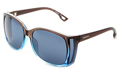 Diesel occhiali da sole dl0004 (60 mm) marrone/azzurro