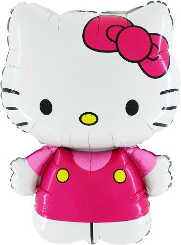 In Rosa Folie Ballon (M24) gekleidet [Spielzeug] (Hello Kitty Ballons)
