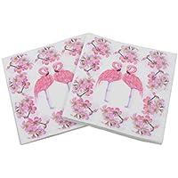 Gysad 1 paquete (20 hojas/paquete) Patrón de flamenco Servilletas papel Pulpa de madera nativa Servilletas Seguridad natural Servilletas para decoupage size 33x33cm (#1)