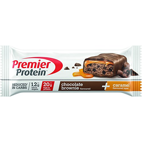 Premier Protein Two Layer Protein Bar, Eiweißriegel, mit hohem Proteingehalt 40{24c6e10dfbc3efa9266135d9afaf4882eaa2322d68eb8b91868b91c12491e122}, reduced in carbs* (18x50g) - Chocolate Brownie