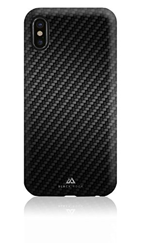 Black Rock - Flex Carbon Case Black für Apple iPhone X - Optimaler Schutz in Karbon Optik