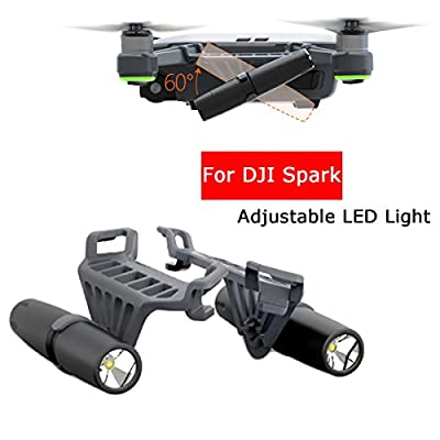 Adjustable up and down 60° Unmanned Air Vehicle LED Lights Accessories Night Flight(9*3*8cm) LED Light Kit for SPARK from FLORATA