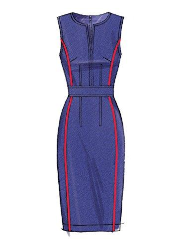 Vogue Mustern Misses Kleid mit Rundum Bund, Mehrfarbig, Größe 6-14 - Bild 3