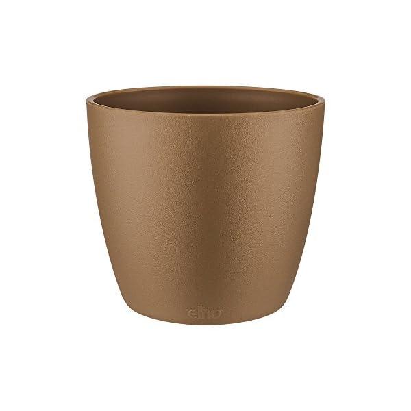 Elho Brussels Round Mini Macetero, 1.2 litros, Dorado(Velvet Gold), 11.4×11.4×0.091 cm