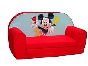 Disney - 6710050 - Ameublement Et Décoration - Mickey - 1-2-3 Sofa - Rouge