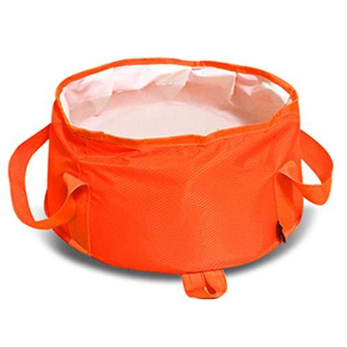 Lavabos de Salle de Bain Pliable lavabo Portable Portable lavabo Voyage Pliant lavabo Camping pêche Sac Pliant Peut être chargé avec de l'eau Chaude (Color : Orange, Size : 30 * 19cm)