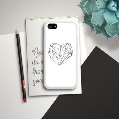 Apple iPhone 5s Housse Étui Protection Coque C½ur Amour Amour Housse en silicone blanc