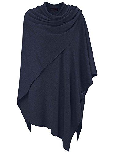 ed8a35ae7 Zwillingsherz Poncho-Schal mit Kaschmir - Hochwertiges Cape für Damen - XXL  Umhängetuch und Tunika