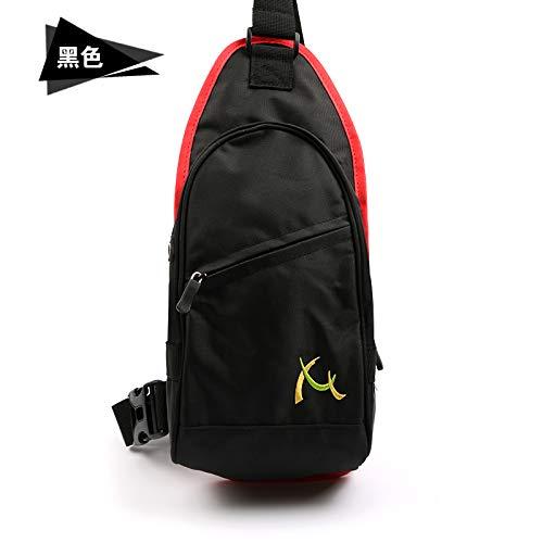WXZB Die Brusttasche der Männer koreanische Art und Weise beiläufige Schultasche, Männer Gezeiten Sport Schulter Klettern Rucksack wenig Bao Baonv, schwarz