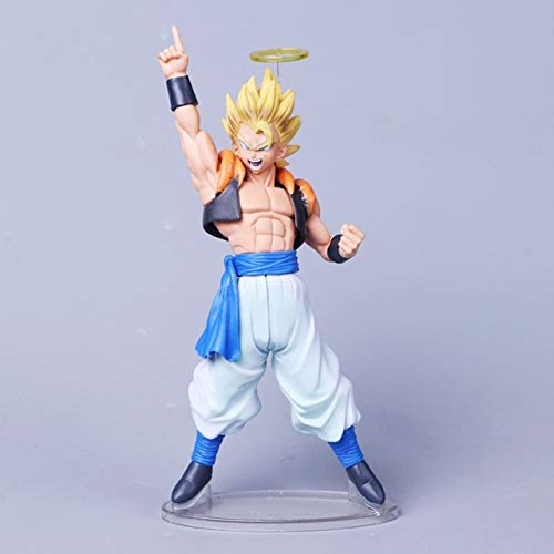 Anime Dragon Ball Z Gogeta Vegeta Son Goku Fusion Angel Aura Super Saiyan Chocolate Figuration Com Figura de acción PVC DBZ Modelo, Angel