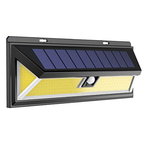 ERAY Lampe solaire extérieure Jardin avec Détecteur de Mouvement, 180 COB LEDs/ IP65 Étanche/ 270° Grand angle/3 Modes Optionnels, Idéal pour Jardin, Garage, Terrasse, Allée