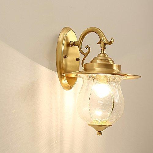 Wandun Semplicità Americana Parete Illuminazione Decorativa Di Applique In Ottone Massiccio In Rurale 26 Cm * Diametro Con Alta 46Cm