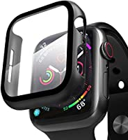 Compatible with Apple Watch Case with Screen Protector, Full Protective Cover Case Hard PC Bumper + 9H Bulletp