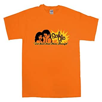 Mens Inspired By Coming To America T Shirt - Soul Glo - Orange - Small
