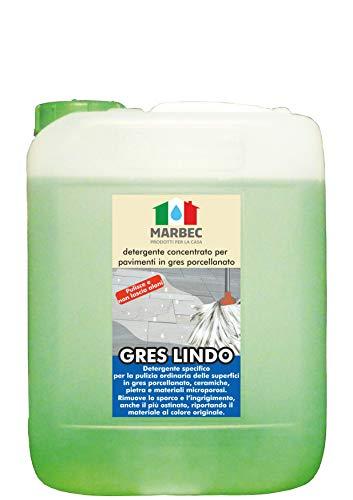 Marbec - Gres Lindo 5LT | Detergente concentrato specifico per la Pulizia ordinaria dei Pavimenti in gres porcellanato