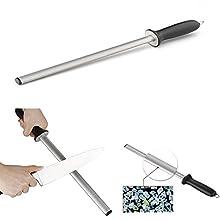 Itian Fusil Professionnel Ovale 43 cm, Fusils Aiguiseur de Couteaux Diamant pour des Couteaux de Cuisine et de Boucherie