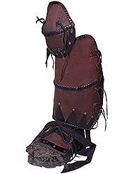 haute qualité Greaves Ork Brute, Paire LARP Jambières ORK Cosplay Moyen âge Noir ou Marron