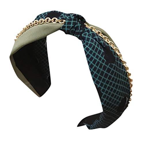 CANDLLY Stirnband Damen, Kopfbedeckung Kontrastgebundenes Geknotetes Und Verknotetes Stirnbands Mit Breiter Krempe Kopfschmuck Zubehör(E,One ()