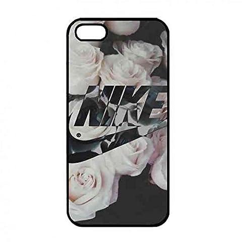 Fleurs Design Background Nike Coque,Le Logo de Nike Belle Conçu Coque pour iPhone 5/5S,Populaire Nike Coque pour iPhone 5/5S,Sport Marque Logo Design Coque Nike