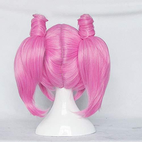 Sailor Moon Chibiusa Perücke zwei Pferdeschwanz rosa Perücke