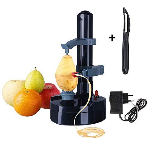 Vicloon Peeler di Frutta con Adattatore,Multifunzione Pela Frutta e Verdura Elettrico,Automatico Sbuccia Pela Patate