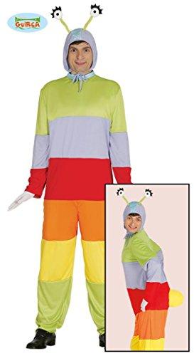 (Wurm Monster Kostüm für Erwachsene Damen Herren Regenwurm Raupe Tier Gr. M/L, Größe:L)