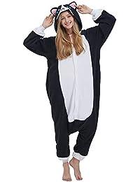Notte E Donna it Abbigliamento Amazon Pigiami Gatto Camicie Da U66C7x